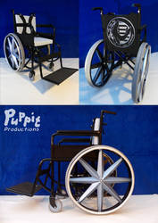 BJD Wheelchair: blue compilation1 by PuppitProductions