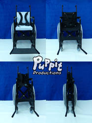 BJD Wheelchair: blue folding compilation by PuppitProductions