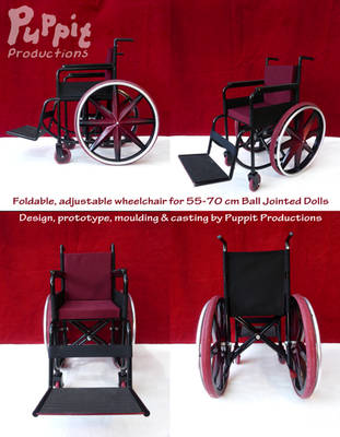 BJD Wheelchair: red compilation by PuppitProductions