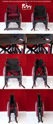 BJD wheelchair: red folding compilation by PuppitProductions