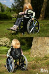 PuppitProductions custom BJD wheelchair by PuppitProductions