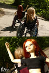 BJD wheelchair race by PuppitProductions