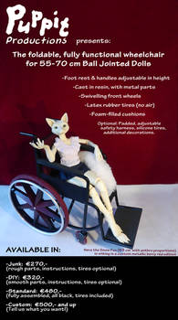 PuppitProductions BJD wheelchair commissions OPEN