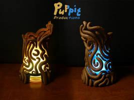 Commission: Zelda spirit orb holder (LED)