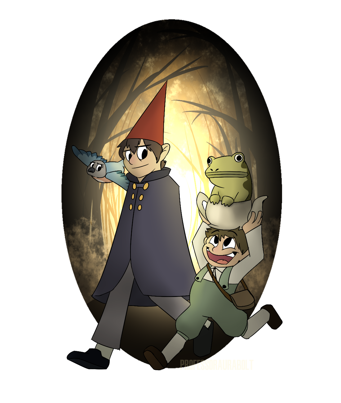 Over The Garden Wall Into The Unknown By Professoraurabolt On Deviantart