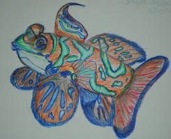 Mandarin Fish by FawfultheLEGO