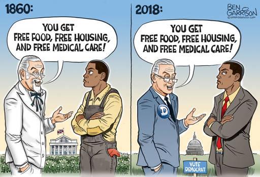 Democrat plantation then and now