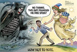 Election cartoon how not to vote