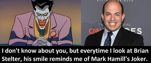Brian Stelter smiles like The Joker by MattX125
