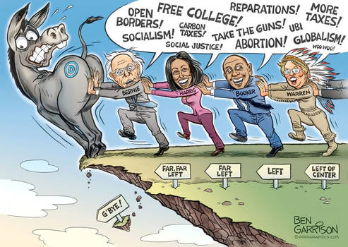2020 Democrats Push Left by Ben Garrison