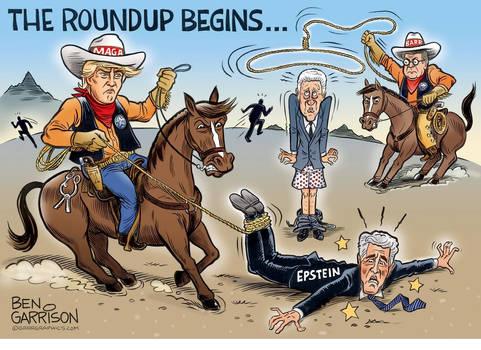 The Roundup Begins by Ben Garrison