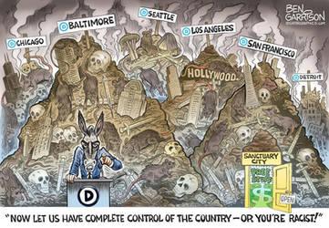 Democrat Cities by Ben Garrison