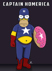 Captain Homerica by 4ymanSmSm