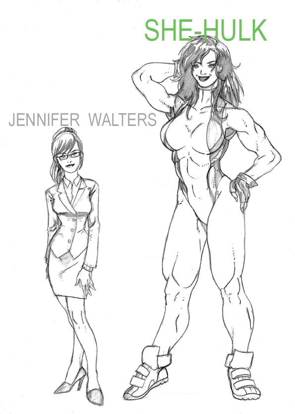 She Hulk Feat Jennifer Walters By ChocoboRunner