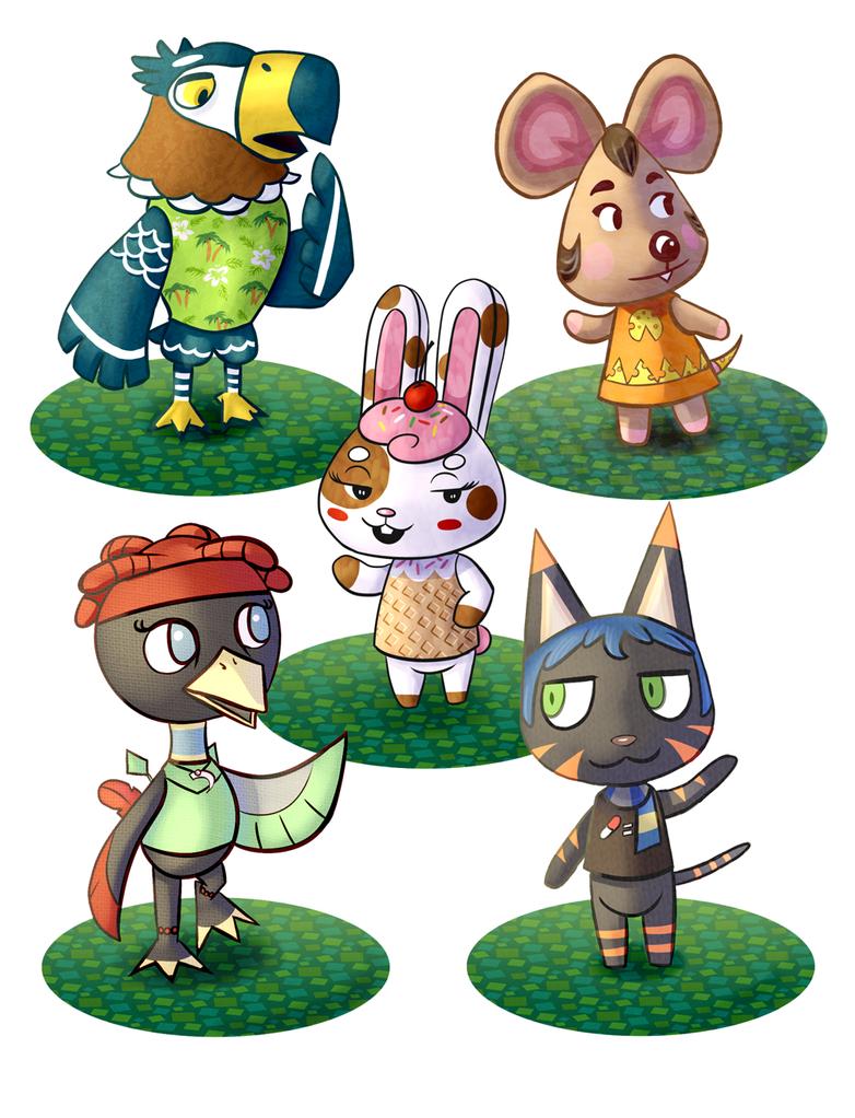 Custom Animal Crossing Style Commissions by DrakeLake