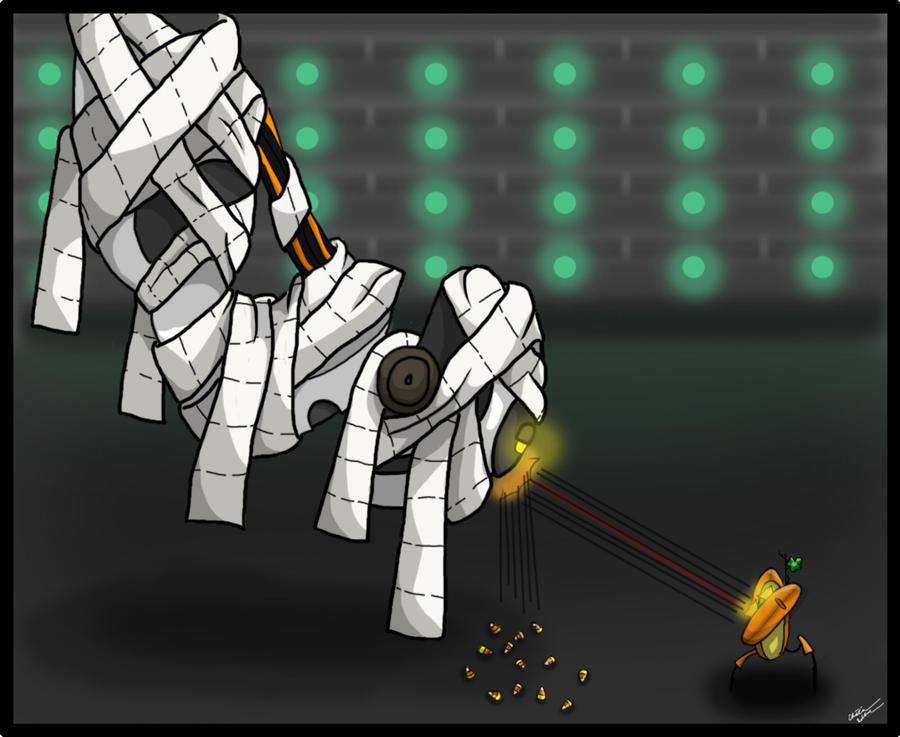 Portal Halloween wip 2 by kaimukiwahine
