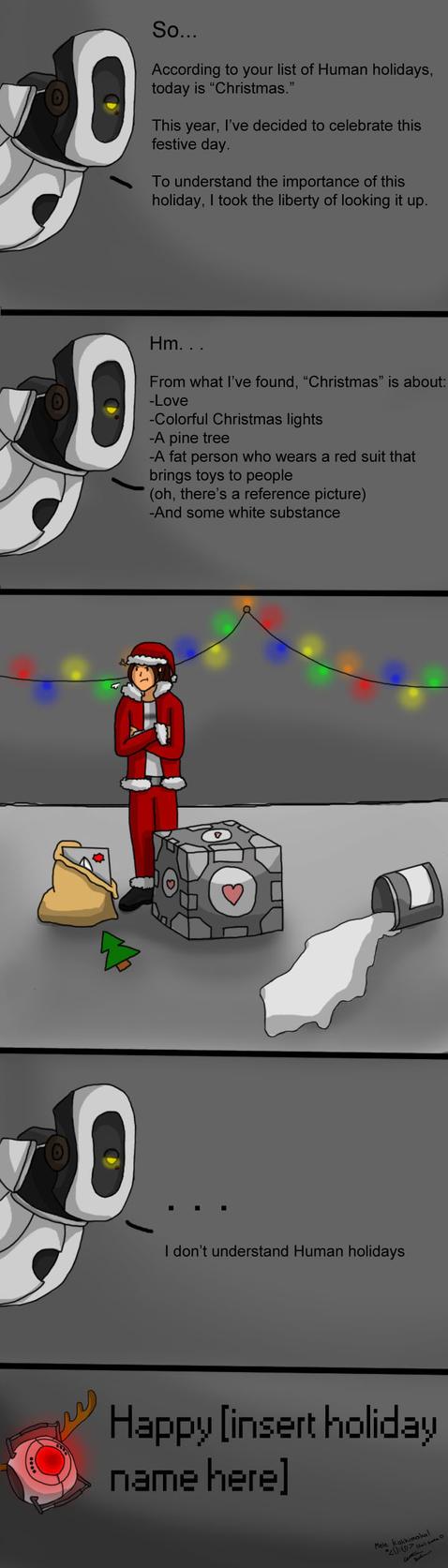 A Portal Christmas by kaimukiwahine