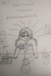 17. 'Mad Science Monday' #Drawlloween2016 by KenjiArtWorks