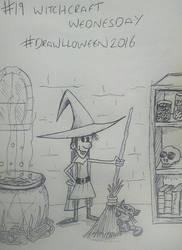19. 'Witchcraft Wednesday' #Drawlloween2016 by KenjiArtWorks
