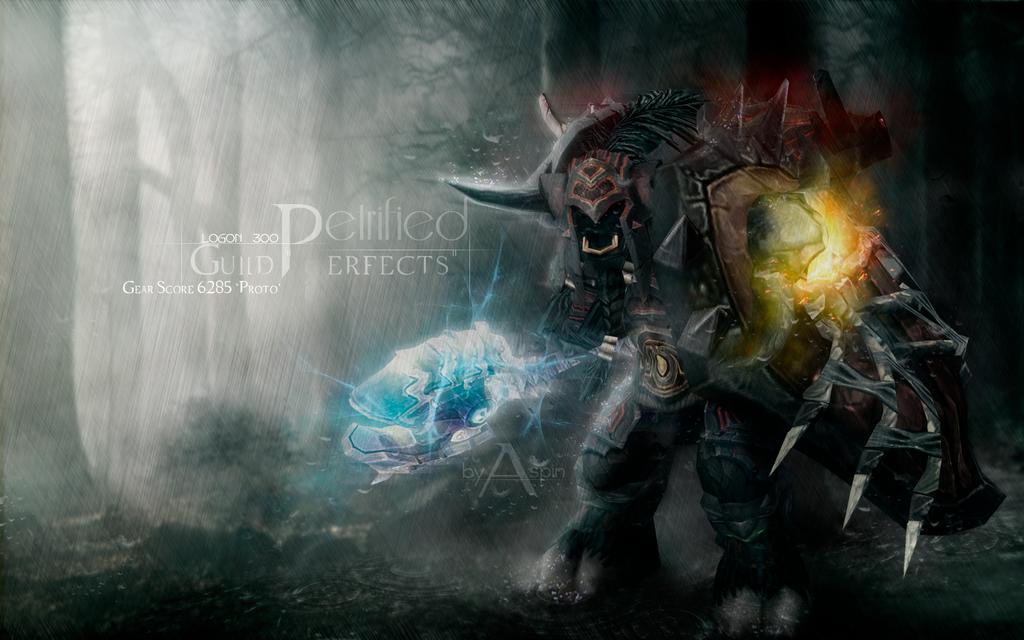 WoW wallpaper / warrior tauren by AspinLul on DeviantArt