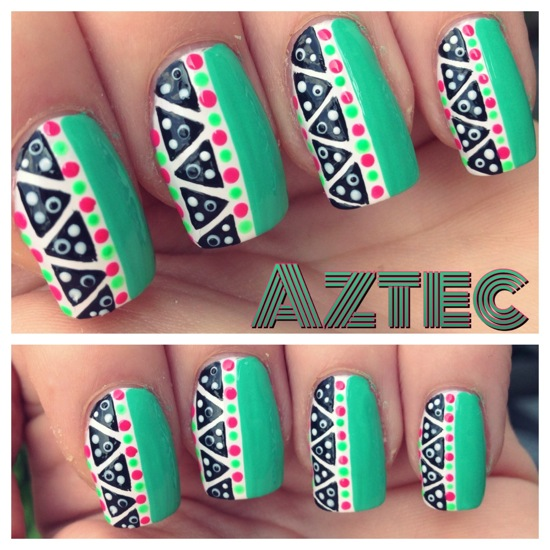 Nail art - Aztec by chrissyyyy on DeviantArt - Nail Designs Aztec ~ Beautify Themselves With Sweet Nails