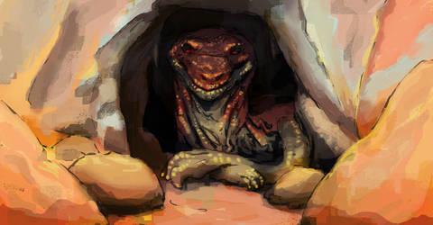 Desert cave dragon by RuosteVaara