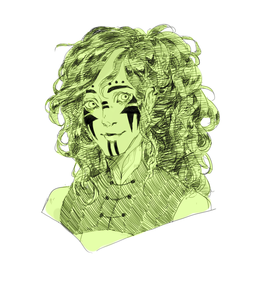 Salad portrait by kateheichou