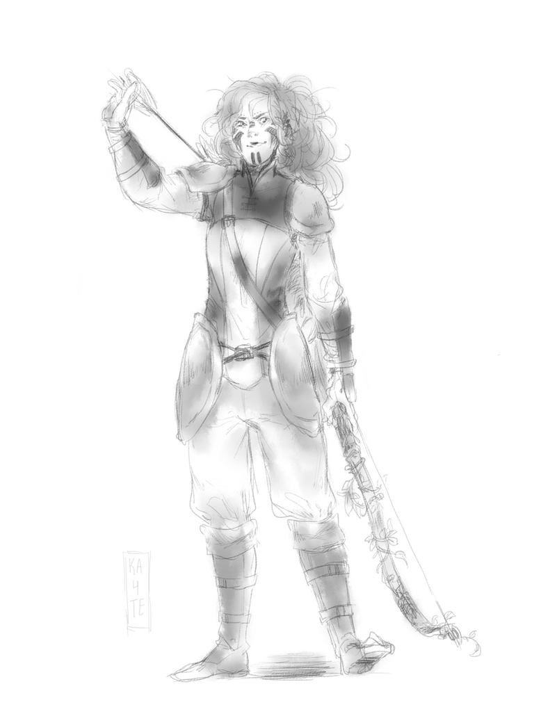 Sorrel Sketch (Commission Style?) by kateheichou