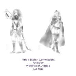 Full Body Sketch Commissions by kateheichou
