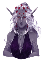 Commission - Drow Priestess by kateheichou