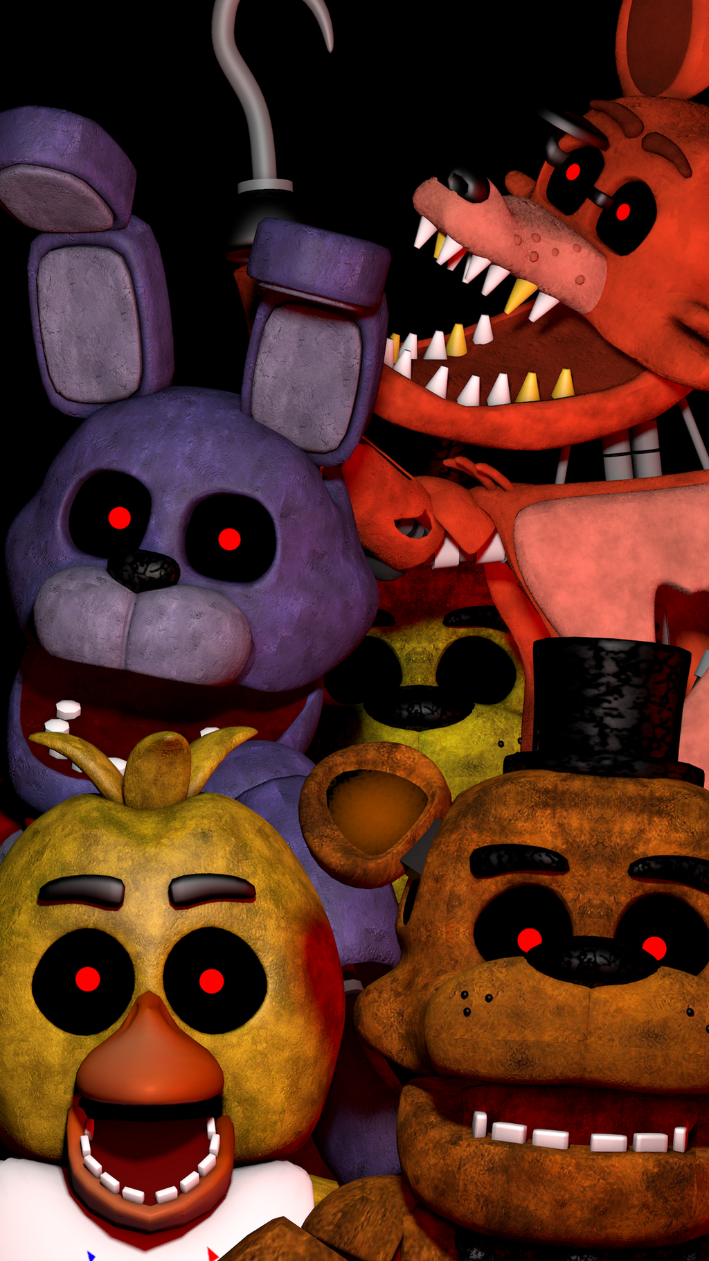FNaF 1 Mobile Wallpaper by PuppetFactory on DeviantArt