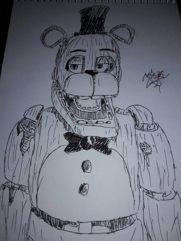 Withered Freddy DRAW by XSessiveMarina on DeviantArt