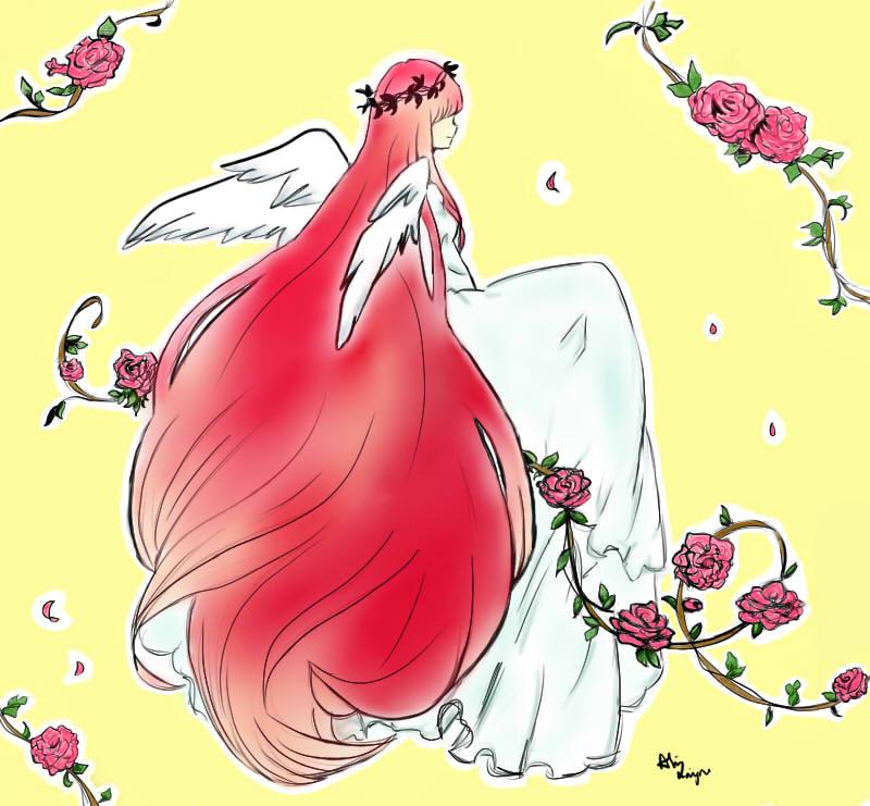 Rose Angel by MeteorDreamer
