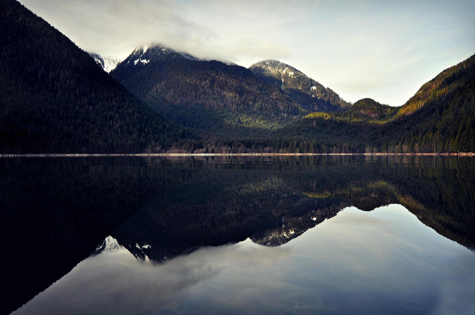Alouette Lake Water Reflection by angela-swift