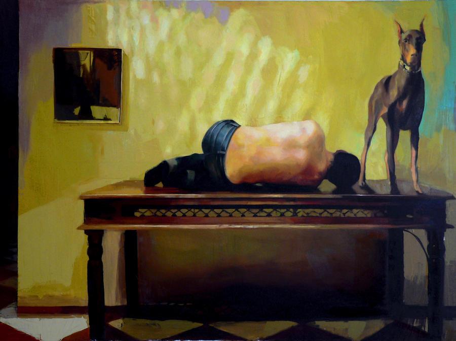 190 x 140 cm oil on canvas by ilkekutlay