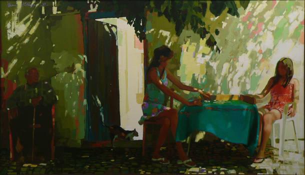 250 x 125cm oil on  canvas