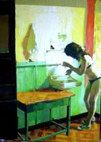 140 x 100cm oil  canvas by ilkekutlay