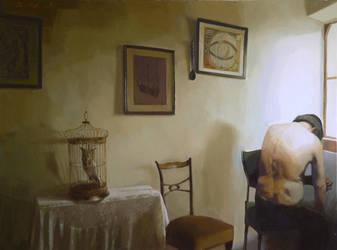 old man 190x 140 oil on canvas by ilkekutlay
