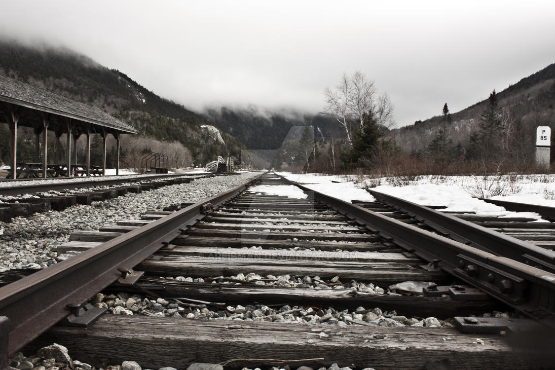 Railroad in NH by Areibman