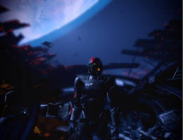 Shepard On Dying Normandy SR-1 by Andy1979