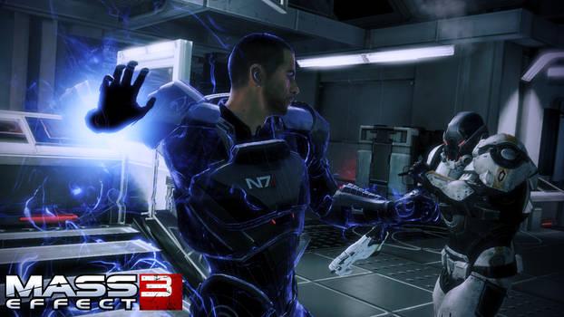 Mass Effect 3: Shepard v's Cerberus Trooper