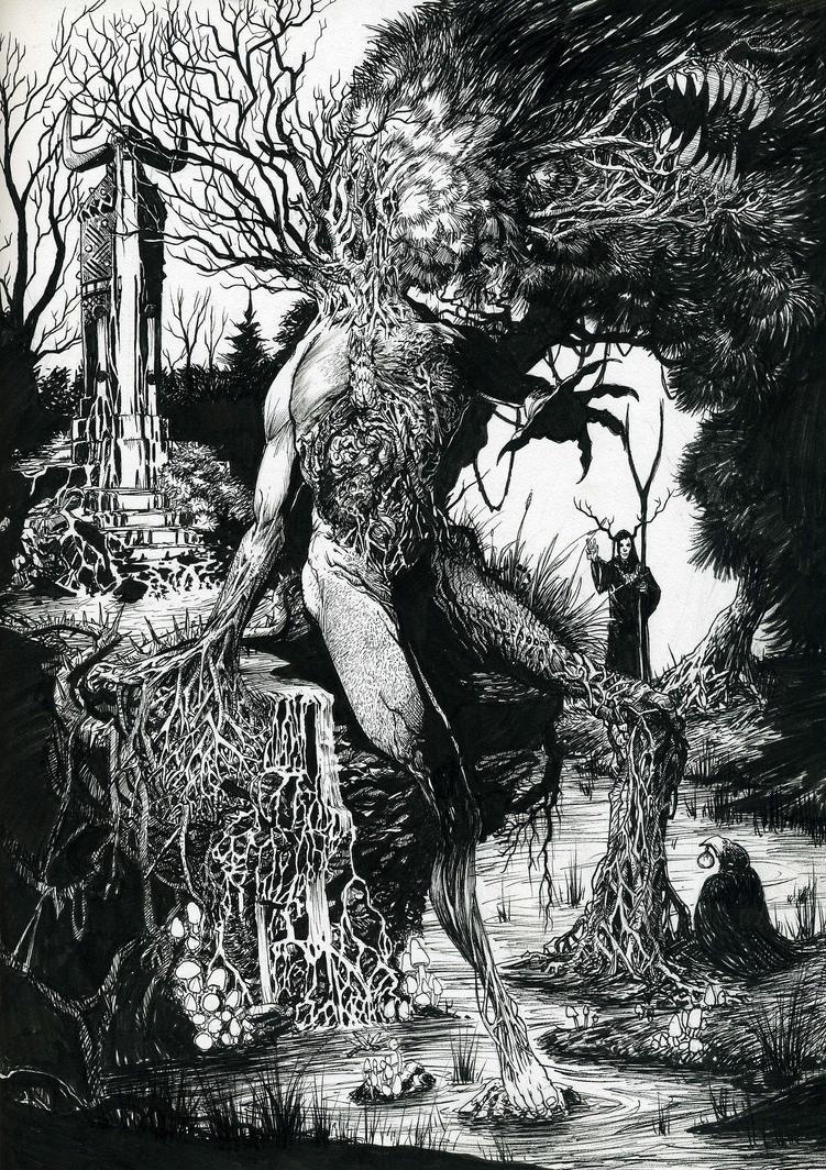 arbustus ara - ink by SickJoe