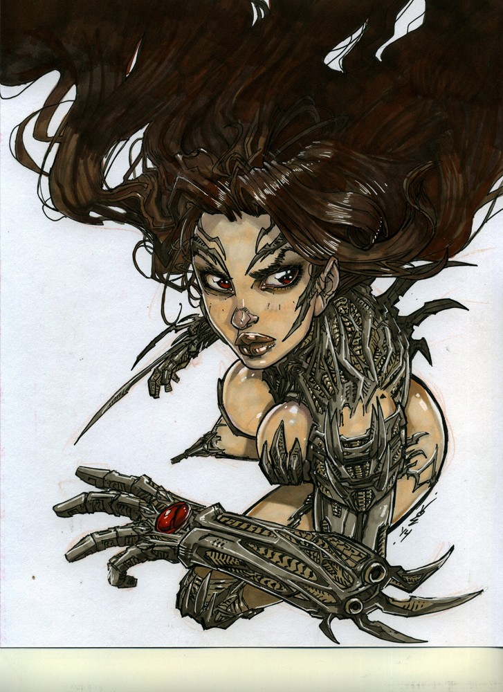 Witchblade - at the table by SickJoe