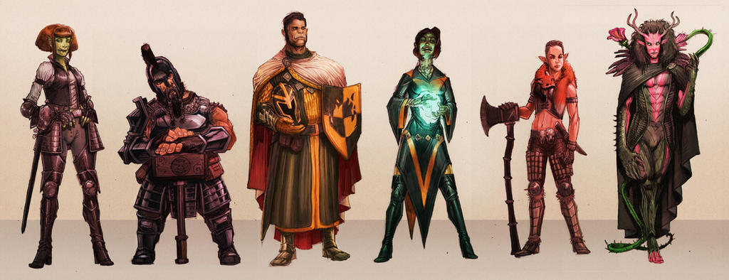 DnD Character Art Examples by SickJoe
