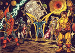 the original guardians of the galaxy color by wanderlei78