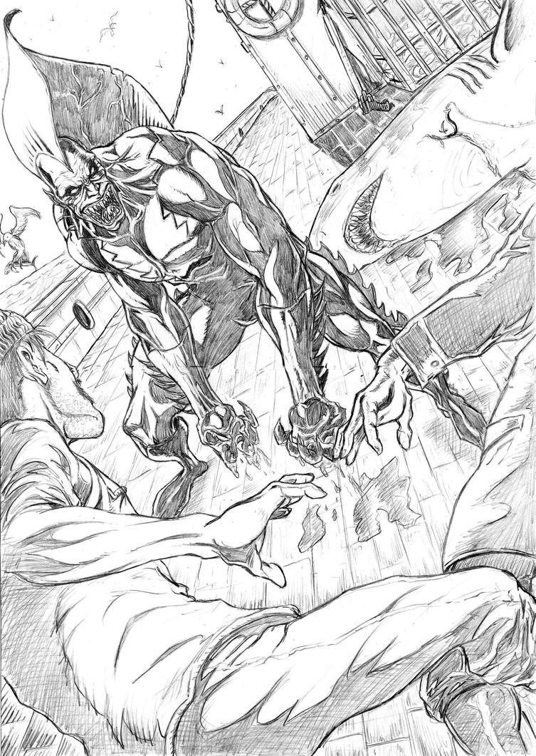 tigershark cover comic project  pencils by wanderlei78