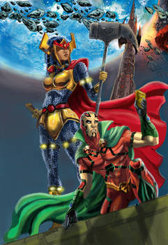 mr.miracle and big barda colored finished 2