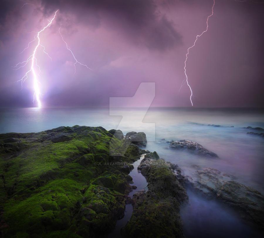 Premium Stock Background: Stormy Sea by JL-ArtandStock