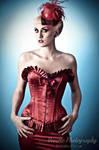 Cici Von Crypt in red satin