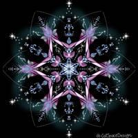 Pink Starflower by CatSpaceDesign